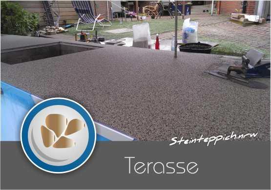 Steinteppich verlegen Terrasse - Quartz Stein Thun - Kleve