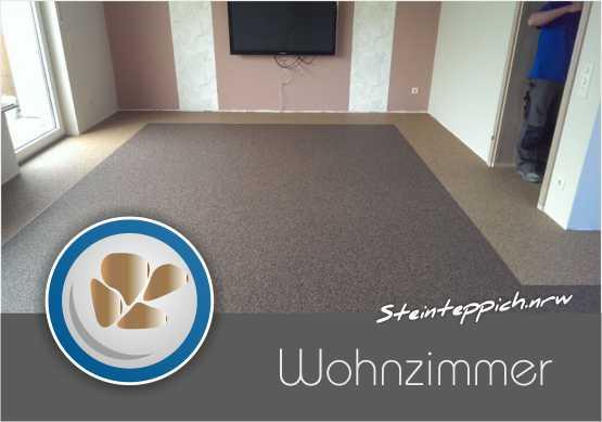 Steinteppich Wohnzimmer