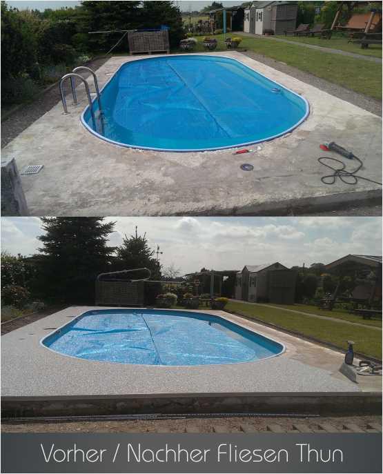 Fliesen Thun Referenzen - Schwimmbad - Steinteppich