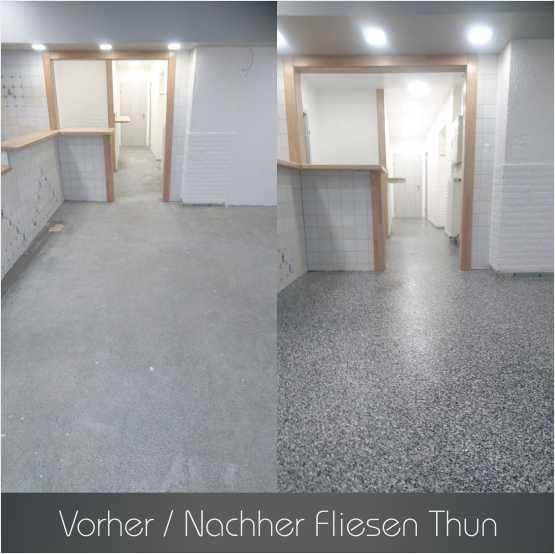 Fliesen Thun Referenzen - Wohnzimmer - Steinteppich